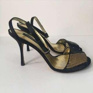 Dolce and Gabanna D&G Strappy sequence sandal heels