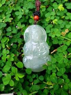 Jade Pendant天然緬甸高冰大觀音