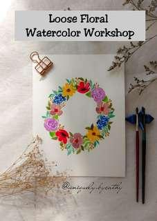 Watercolor Workshop Loose Floral