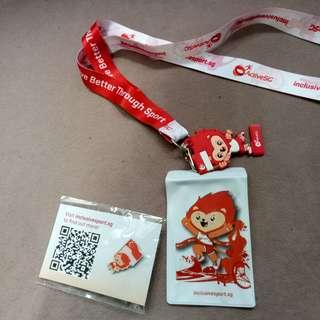Nila mascot lanyard and pin