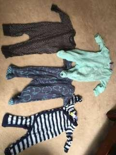 Baby jumpsuits size 000 (3-6 months)