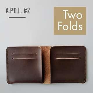 "🚚 A.P.O.L. #2 - The ""Two Folds"" Minimalist Wallet by wwbtt"