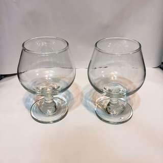 質感 透明 酒杯 水杯(一對兩入組)