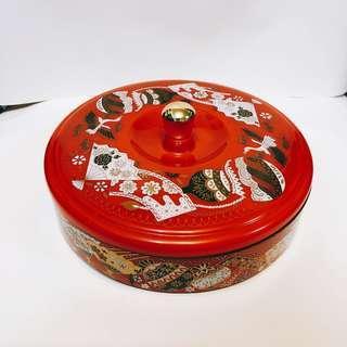 質感 可愛 花紋 圖案 收納盒 糖果盒(可當小碗)