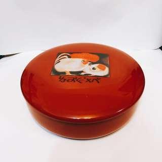 質感 可愛 小雞 圖案 收納盒 糖果盒(可當小碗)