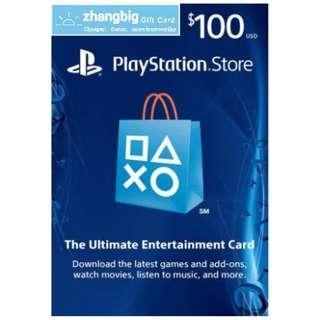 PSN Gift Card USD100