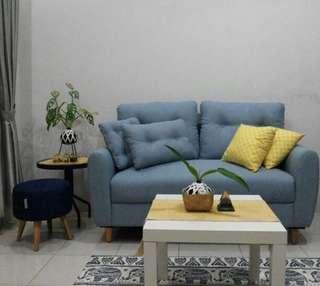 Sofa 2 seat grey Scandinavia