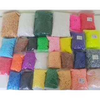 Fuse beads. Ready stock 5mm beads (perler beads/ artkal beads/ hama beads) similar.Key chains too.