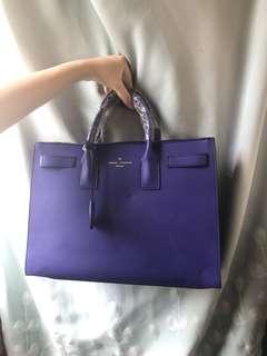 韓國藍色方形袋 公事包 返工袋 萬用袋 兩個呎吋 包包