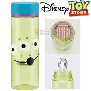 日本🇯🇵迪士尼 三眼怪 隨身冷水瓶《綠藍.大臉》400ml.水壺