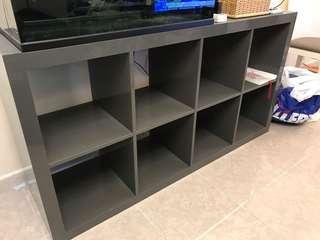 150x79x39cm Ikea 8格 令面灰色櫃