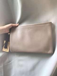 🈹韓國淺啡色杏色駝色手拿包 手提袋