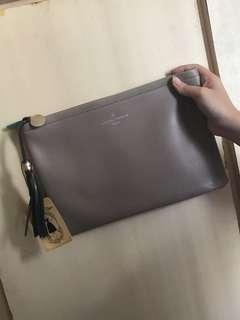 🈹韓國灰色手拿包 手提袋