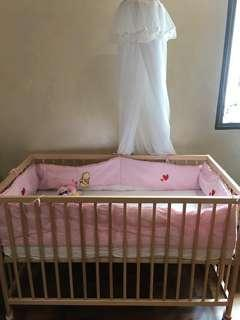 Ikea Baby Cot and Mattress