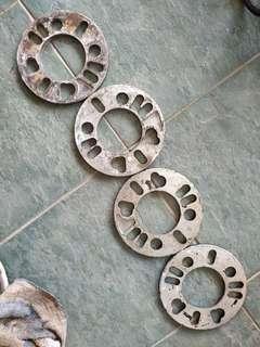 Wheel spacer 4pcs 1set 6mm