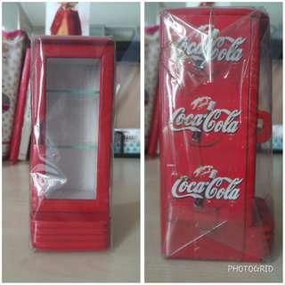Coca-Cola Mini Wood Refrigerator