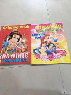 Princess colouring books