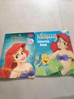 Little mermaid colouring book