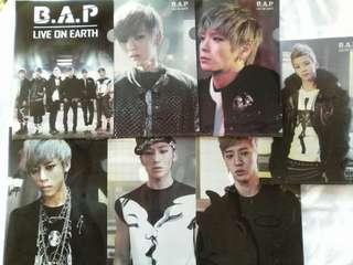 (WTS) B.A.P LIVE ON EARTH OFFICIAL FILES (SELLING IN SET ONLY)