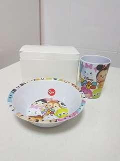 🚚 Tsum Tsum Cutlery Set Plate and Cup