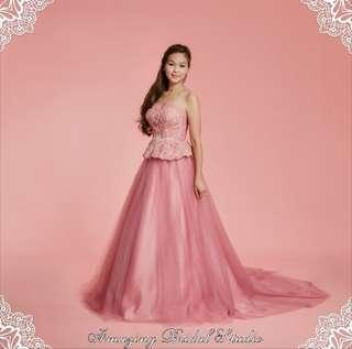 Dusty Pink Evening Gown