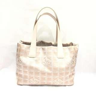 Chanel Beige Nylon Jacquard Tote Bag