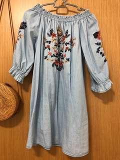 🚚 Off shoulder boho dress