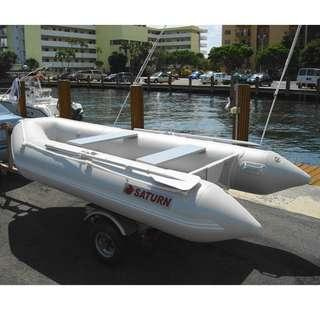 SATURN AUS Inflatable Boat 11ft White