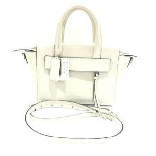 Coach White Saffiano Leather Mini Riley Carryall Two-way Bag