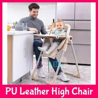 ★FREE DELIVERY★4 Attractive Colours★Premium PU Leather Baby High Feeding Chair Seat★Waterproof High Quality Spillproof