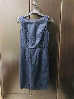 Blue Office Dress (Preloved)