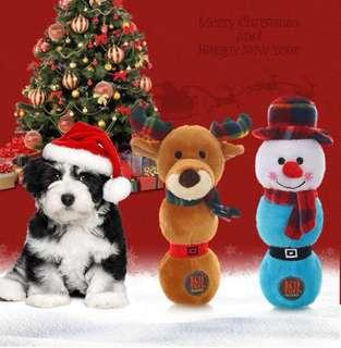 Pets Christmas Festive Cute Snowman High Quality Durable Squeaky Toy!