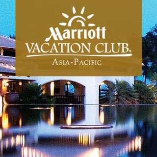 Marriotts Vacation Club Membership for sale (1400 Club points)