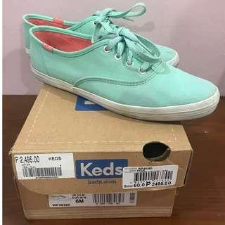 Keds Size 6 Original Authentic Mint Green