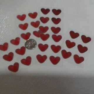 FREE Heart Shaped Stickers 5 PIECES FREE POSTAGE