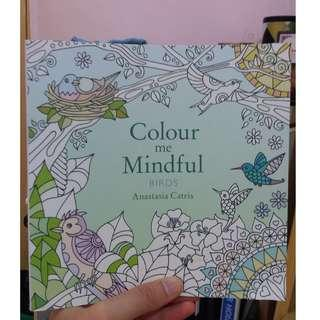 Color Me Mindful (Birds) - coloring book