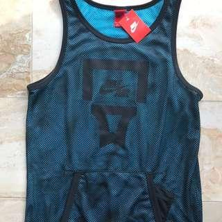 New with Tags Authentic Nike Black Blue Basketball Singlet