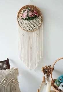 🚚 Wall Decor Wall Art Planter Fruit Basket Macrame Rope Art