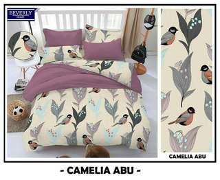 Seprei set motif Camelia Abu uk 180x200x20