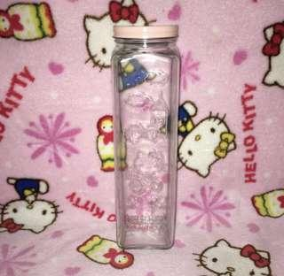 Hello Kitty Tall Glass Container Bottle