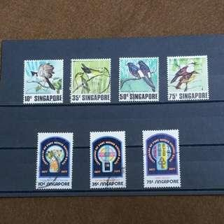 Singapore Stamps 1977 & 1978