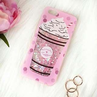 Iphone 7 Phone Case Unicorn Coffee Glitter Quicksand