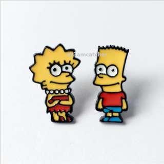 Simpsons - Bart and Lisa earrings / earstuds