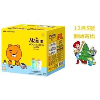 [12月預購] 韓國 Maxim 麥心 摩卡 mocha 咖啡 白咖啡 260入 Kakao 沖泡咖啡 杯子
