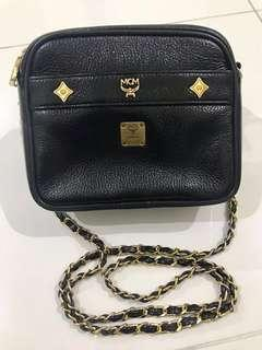 💯Authentic Vintage Mini MCM Chained Sling Bag
