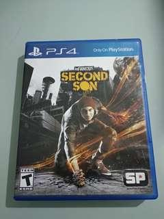CD PS 4 inFAMOUS SECOND SON