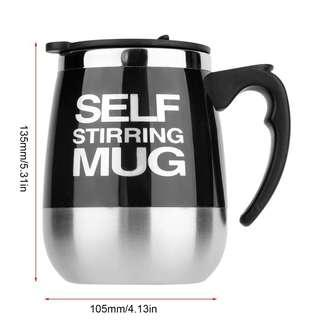 Self Stirring Mug (Black Color) Battery Operated. Free battery for the mug purchase.