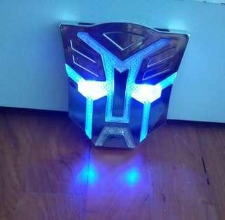 Transformer Mask Solar Power Chrome Multi -Color Led Changing Light For Car/ Van/Trucks