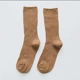 🚚 秋冬針織堆堆襪-兩色