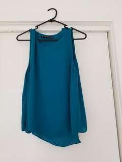 Zara turquoise top size M